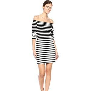 Women Fira Striped Off The Shoulder Bodycon Dress